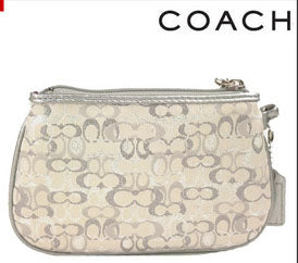 Coach: Gold Lurex Wristlet