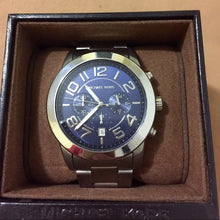 Load image into Gallery viewer, Michael Kors MK8329 Mercer Blue Dial Stainless Steel Men's Chronograph Watch