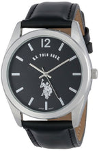 Load image into Gallery viewer, U.S. Polo Assn. USC50005 Black Leather Men's Analog Watch