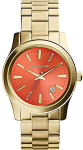 Michael Kors MK5915 Women's Gold Plated Orange Dial Watch