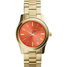 Load image into Gallery viewer, Michael Kors MK5915 Women's Gold Plated Orange Dial Watch