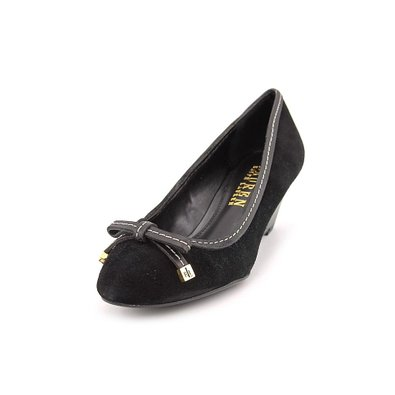 Ralph Lauren: Black Bernee Wedge Pump Heels