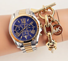 Load image into Gallery viewer, Michael Kors MK5976 Bradshaw Blue Dial Two-Tone Stainless Steel Ladies' Chronograph Watch