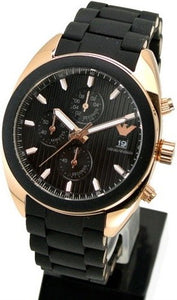 Emporio Armani 'Sport' AR5954 Men's Black Dial Chronograph Watch