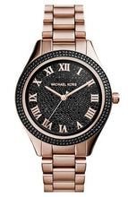 Load image into Gallery viewer, Michael Kors MK3320 Women's Blake Black Pavé Dial Rose Gold Tone Stainless Steel Bracelet Watch