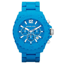 Load image into Gallery viewer, Michael Kors MK8261 Drake (Stainless Steel Clasp/Caseback) Blue Plastic Chronograph Unisex Watch