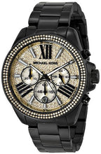 Load image into Gallery viewer, Michael Kors MK5961 Wren Black Stainless Gold Dial Ladies' Chronograph Watch