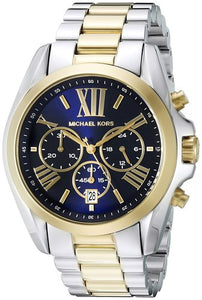 Michael Kors MK5976 Bradshaw Blue Dial Two-Tone Stainless Steel Ladies' Chronograph Watch