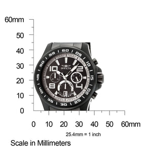 Invicta Men's 14395 Specialty Chronograph Black and Grey Dial Black Ion Plated Stainless Steel Watch