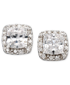 B. Brilliant Pave Cubic Zirconia Stud Earrings