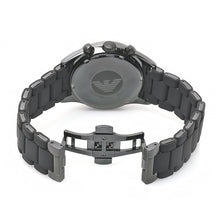 Load image into Gallery viewer, Emporio Armani Men's AR5889 Sport Chronograph Silicone Accent Black Dial Watch  (Swiss Made)