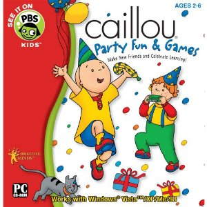Fun & Educational PC  Game: Caillou Party Fun and Games Software (2-6 Years)