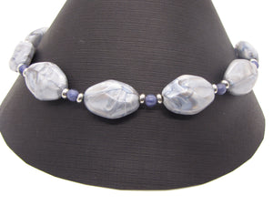 Natural Blue Lace Agate Necklace