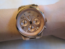 Load image into Gallery viewer, Michael Kors MK5128 Runway Spring/Summer Rose-Gold Tone Ladies' Chronograph Watch