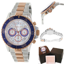 Load image into Gallery viewer, Michael Kors Men's Everest MK5794 Two-Tone Stainless-Steel Quartz Watch with White Dial