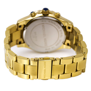 Michael Kors MK5810 Madison Fixed Clear Pave Crystal Accented Bezel Gold Tone Stainless Steel Ladies' Chronograph Watch