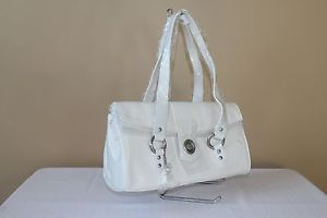 Rina Rich: White Leather Shoulderbag