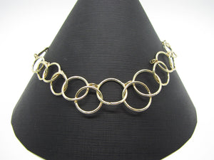 Nine West Gold Tone Necklace Large Loop Chain Mail 16 in