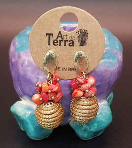 """Golden Grass"" Eco-Brazilian Dangle Earring-Art da Terra"