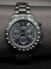 Load image into Gallery viewer, AL-20050-BK-SL Quartz Chronograph Black Stainless Steel Women Watch-A_Line