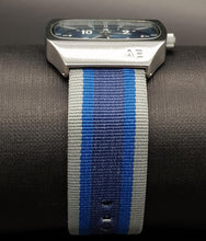 Load image into Gallery viewer, AEO 1008 Silver Tone Striped Fabric Band Quartz Watch-American Eagle