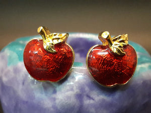 Apple Harvest Pierced Earrings-Avon