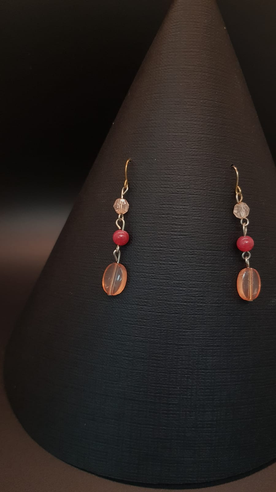 Beaded Shell Drop Earrings