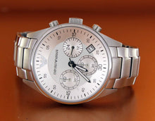 Load image into Gallery viewer, Emporio Armani Sport Steel Chronograph Silver Dial Men's Watch AR5869