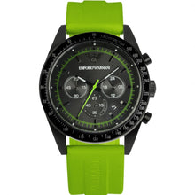 Load image into Gallery viewer, Emporio Armani Watch, Men's Chronograph Tazio Green Rubber Strap AR6115