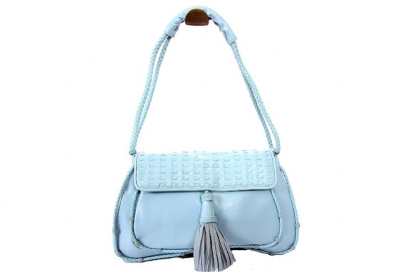 Moka: Blue Fashion Satchel