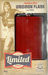 Wembley: Stainless Steel Gridiron Flask with Funnel
