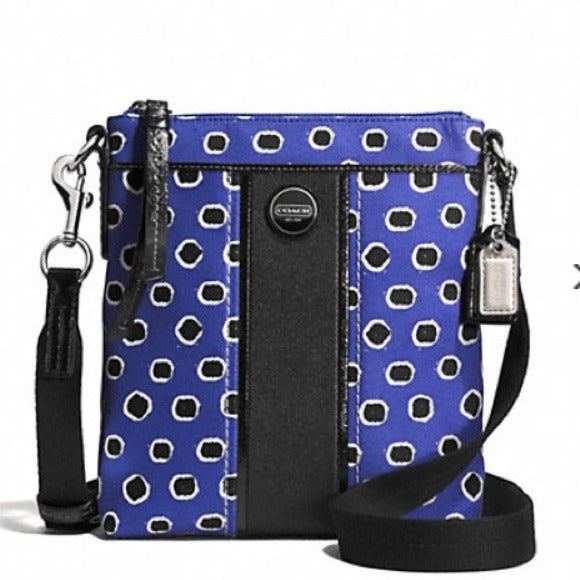 Coach: Mini Dot Large Striped Crossbody