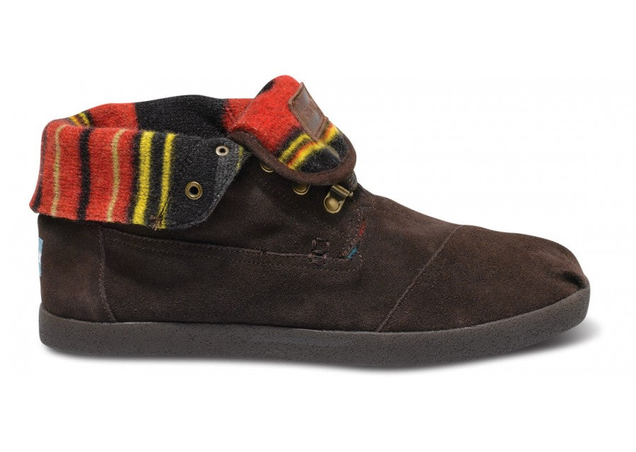 Toms Highlands Brown Suede Stripe Men's Botas