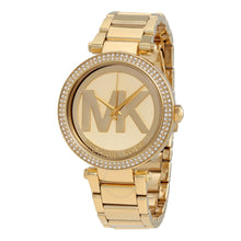 Load image into Gallery viewer, Michael Kors MK5784 Parker Champagne Dial Crystals-inlaid Bezel Gold-Tone Stainless Steel Ladies' Watch