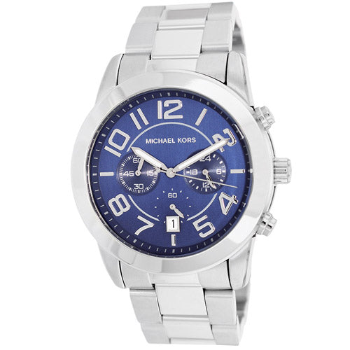 Michael Kors MK8329 Mercer Blue Dial Stainless Steel Men's Chronograph Watch