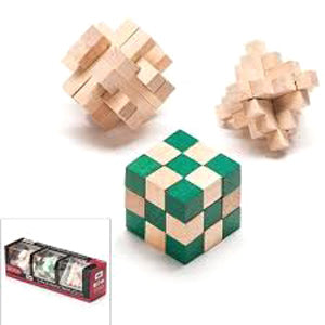 Totes: 3-Pack Wooden Puzzles
