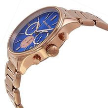 Load image into Gallery viewer, Michael Kors MK5911 Bailey Chronograph Blue Dial Rose Gold-tone Women's Watch