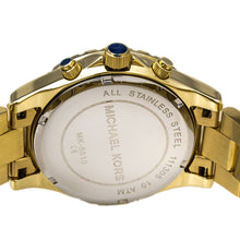 Load image into Gallery viewer, Michael Kors MK5810 Madison Fixed Clear Pave Crystal Accented Bezel Gold Tone Stainless Steel Ladies' Chronograph Watch
