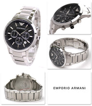 Load image into Gallery viewer, Emporio Armani Men's AR2434 Stainless Steel Watch  (Swiss Made)