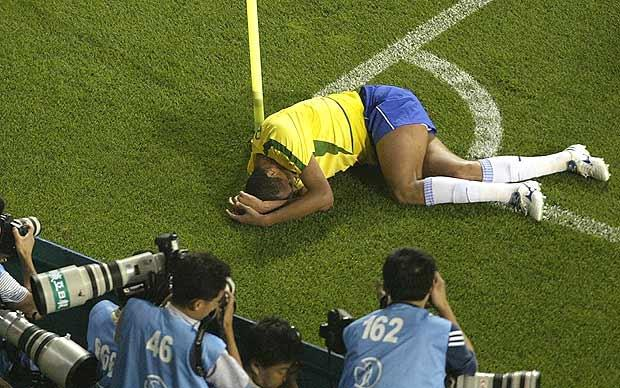 Rivaldo: the Brazil international feigned injury against Turkey at the 2002 World Cup finals