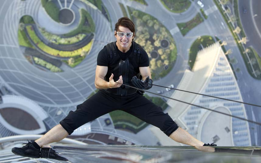 Tom Cruise on set of Ghost Protocol