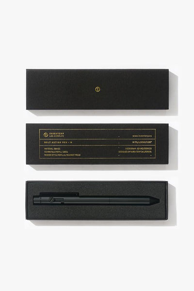 Inventery Bolt Action Pen - Onyx