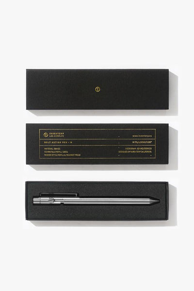 Inventery Bolt Action Pen - Brushed Chrome