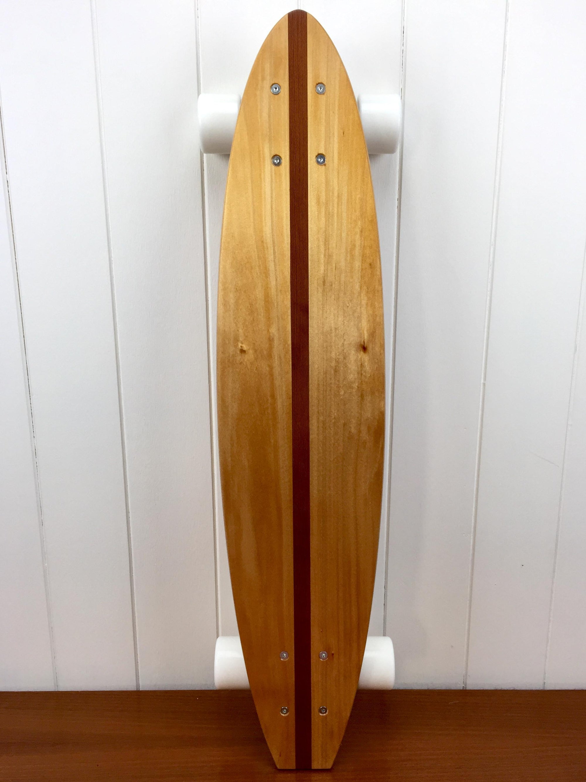 Gullyboards | NZ Kauri (Redwood inlay) Small Flat-tail