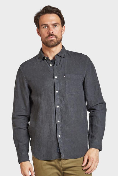 Academy Brand Hampton Linen Shirt Long Sleeve