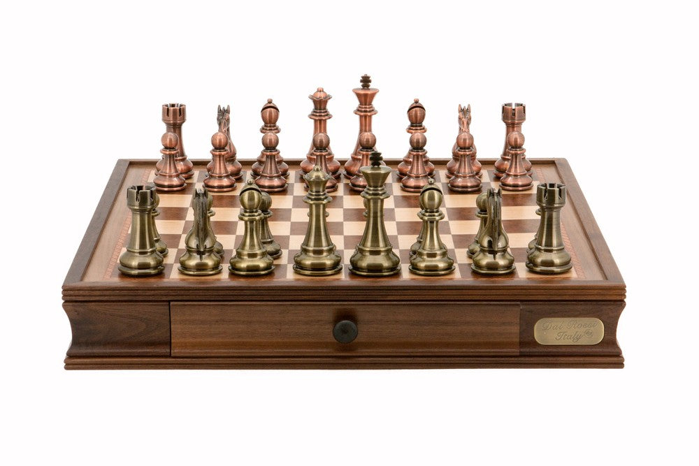 "Dal Rossi 20"" Bronze and Copper Chess Set"