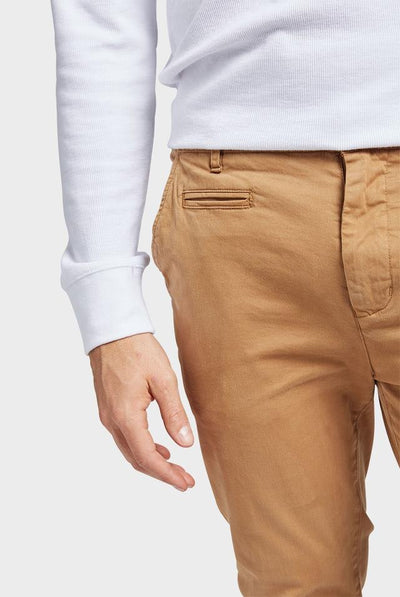 Academy Brand Skinny Stretch Chino - Coffee
