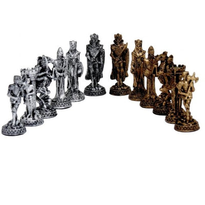 Dal Rossi Pewter Medieval Chess Set