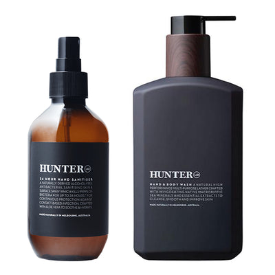 Hunter Lab 24hr Hand Sanitiser + Hand & Body Wash Combo