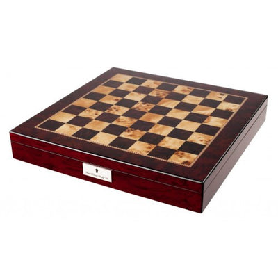 "Dal Rossi 20"" Mahogany Finish Chess Set with Staunton Wooden Pieces"